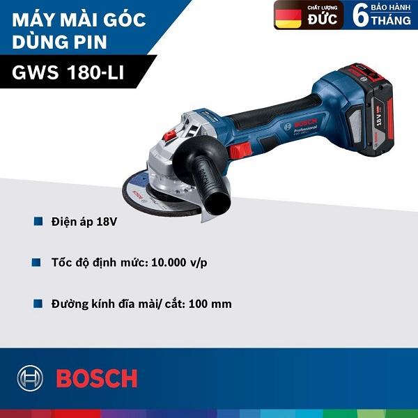 Máy mài góc dùng pin Bosch GWS 180-LI