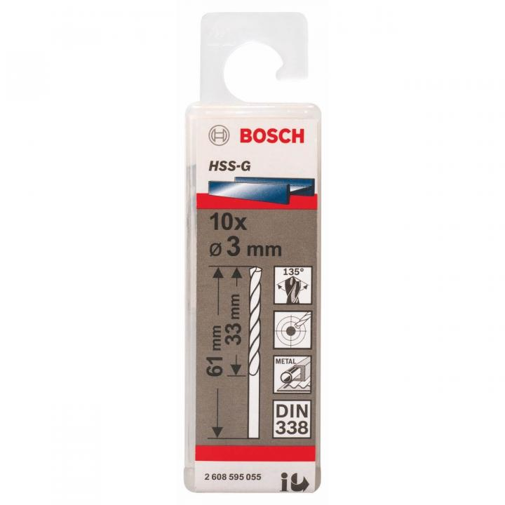 Mũi Khoan Kim Loại, Sắt HSS-G/HSS-R Bosch 2608595055