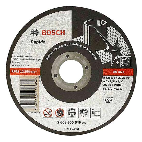 Đá cắt inox Bosch 125x22.2x2.0 2608600094